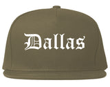 Dallas Texas TX Old English Mens Snapback Hat Grey