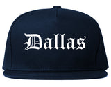 Dallas Texas TX Old English Mens Snapback Hat Navy Blue