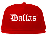 Dallas Texas TX Old English Mens Snapback Hat Red