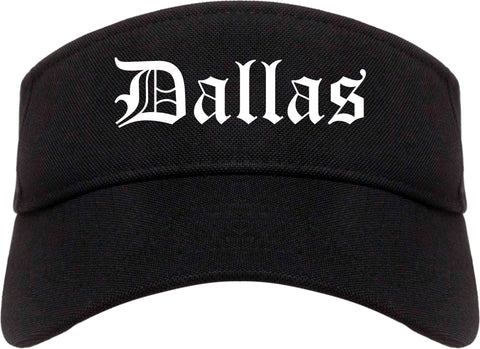 Dallas Texas TX Old English Mens Visor Cap Hat Black