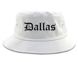 Dallas Texas TX Old English Mens Bucket Hat White