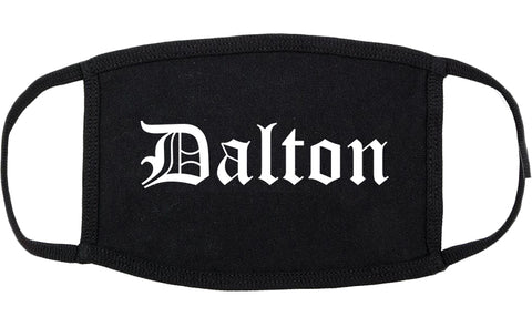 Dalton Georgia GA Old English Cotton Face Mask Black