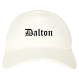 Dalton Georgia GA Old English Mens Dad Hat Baseball Cap White