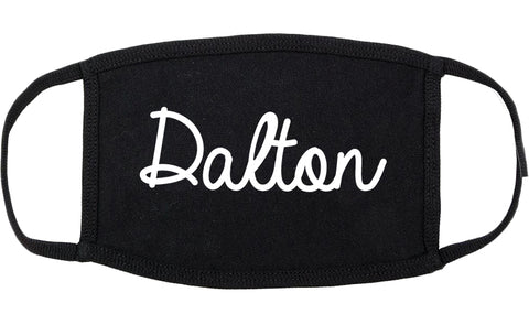 Dalton Georgia GA Script Cotton Face Mask Black