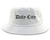 Daly City California CA Old English Mens Bucket Hat White