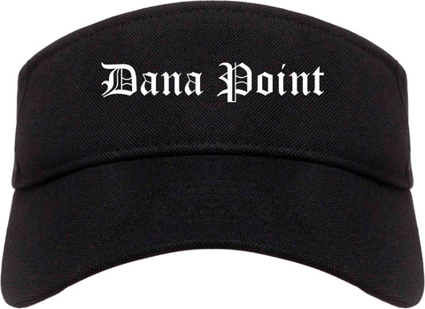 Dana Point California CA Old English Mens Visor Cap Hat Black