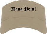 Dana Point California CA Old English Mens Visor Cap Hat Khaki