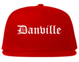 Danville Virginia VA Old English Mens Snapback Hat Red