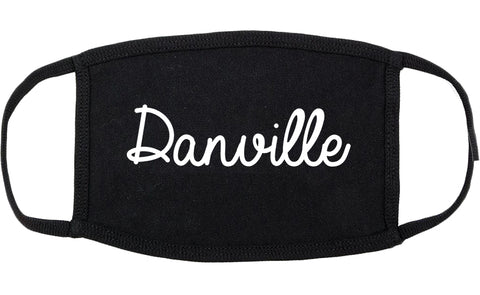 Danville Virginia VA Script Cotton Face Mask Black