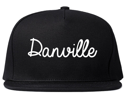 Danville Virginia VA Script Mens Snapback Hat Black