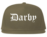 Darby Pennsylvania PA Old English Mens Snapback Hat Grey