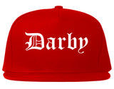 Darby Pennsylvania PA Old English Mens Snapback Hat Red