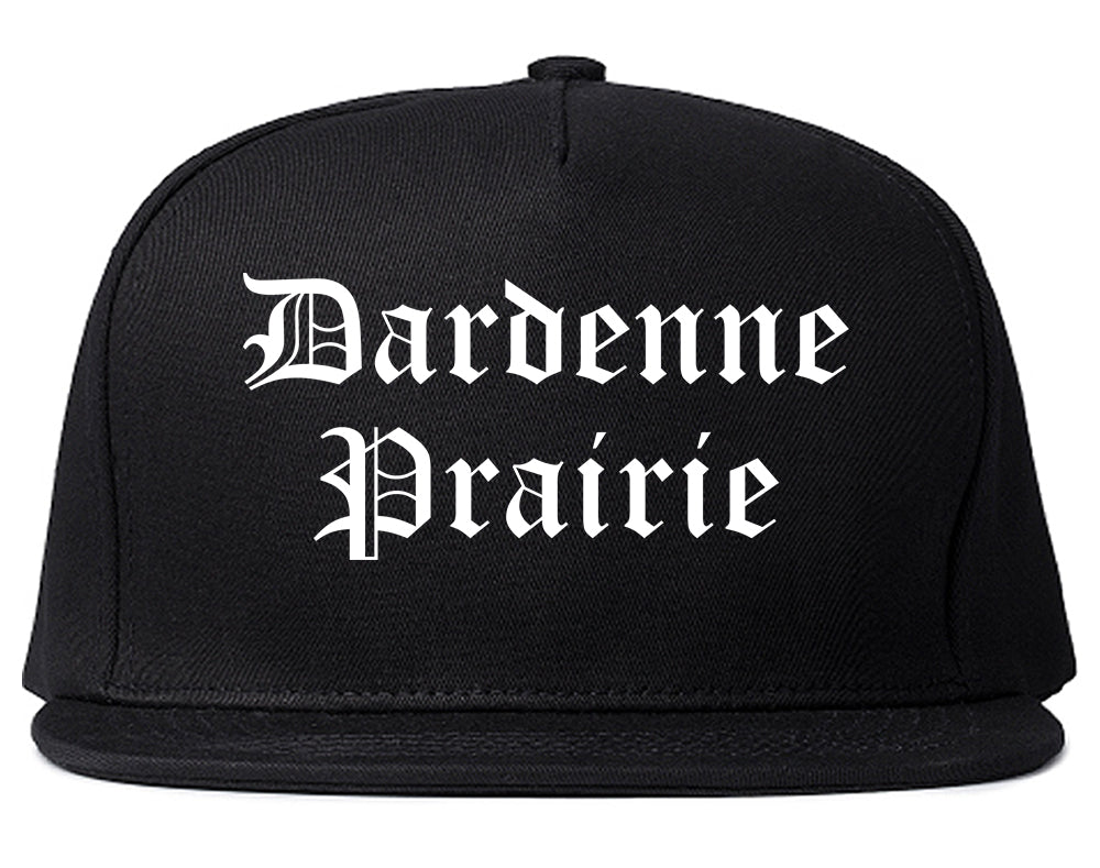 Dardenne Prairie Missouri MO Old English Mens Snapback Hat Black