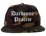 Dardenne Prairie Missouri MO Old English Mens Snapback Hat Army Camo