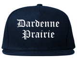 Dardenne Prairie Missouri MO Old English Mens Snapback Hat Navy Blue