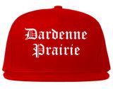 Dardenne Prairie Missouri MO Old English Mens Snapback Hat Red