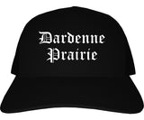 Dardenne Prairie Missouri MO Old English Mens Trucker Hat Cap Black