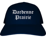 Dardenne Prairie Missouri MO Old English Mens Trucker Hat Cap Navy Blue