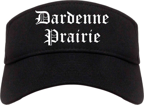 Dardenne Prairie Missouri MO Old English Mens Visor Cap Hat Black