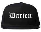 Darien Illinois IL Old English Mens Snapback Hat Black