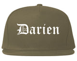 Darien Illinois IL Old English Mens Snapback Hat Grey