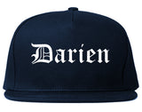 Darien Illinois IL Old English Mens Snapback Hat Navy Blue