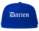 Darien Illinois IL Old English Mens Snapback Hat Royal Blue