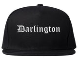 Darlington South Carolina SC Old English Mens Snapback Hat Black
