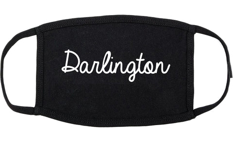 Darlington South Carolina SC Script Cotton Face Mask Black