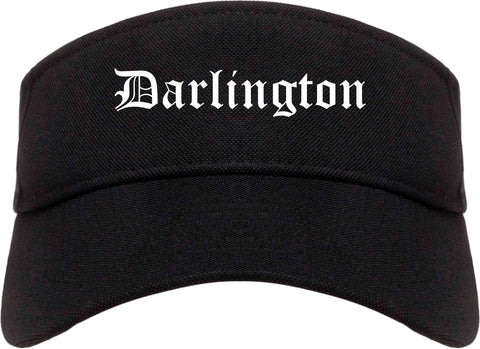 Darlington South Carolina SC Old English Mens Visor Cap Hat Black