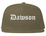 Dawson Georgia GA Old English Mens Snapback Hat Grey