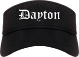 Dayton Ohio OH Old English Mens Visor Cap Hat Black