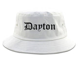 Dayton Ohio OH Old English Mens Bucket Hat White