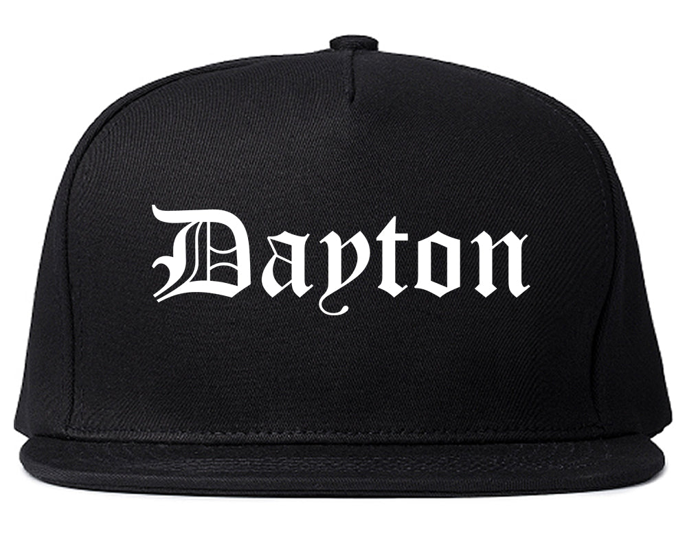 Dayton Tennessee TN Old English Mens Snapback Hat Black