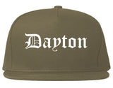 Dayton Tennessee TN Old English Mens Snapback Hat Grey