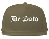 De Soto Kansas KS Old English Mens Snapback Hat Grey