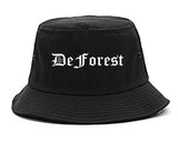 DeForest Wisconsin WI Old English Mens Bucket Hat Black