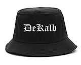 DeKalb Illinois IL Old English Mens Bucket Hat Black