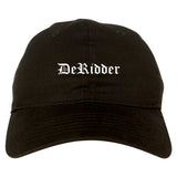 DeRidder Louisiana LA Old English Mens Dad Hat Baseball Cap Black