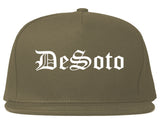 DeSoto Texas TX Old English Mens Snapback Hat Grey