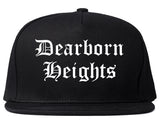 Dearborn Heights Michigan MI Old English Mens Snapback Hat Black