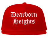 Dearborn Heights Michigan MI Old English Mens Snapback Hat Red
