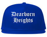 Dearborn Heights Michigan MI Old English Mens Snapback Hat Royal Blue