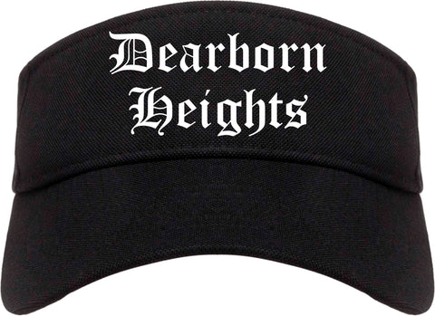 Dearborn Heights Michigan MI Old English Mens Visor Cap Hat Black