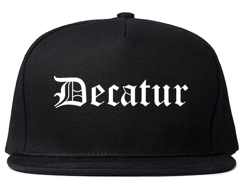 Decatur Georgia GA Old English Mens Snapback Hat Black