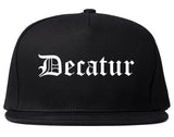 Decatur Illinois IL Old English Mens Snapback Hat Black