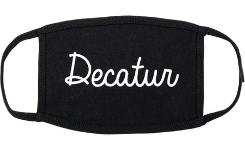 Decatur Texas TX Script Cotton Face Mask Black