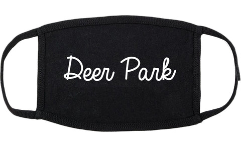 Deer Park Ohio OH Script Cotton Face Mask Black