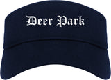 Deer Park Ohio OH Old English Mens Visor Cap Hat Navy Blue