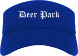 Deer Park Ohio OH Old English Mens Visor Cap Hat Royal Blue